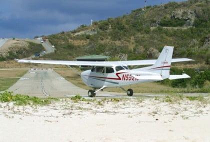Vliegles in een Cessna