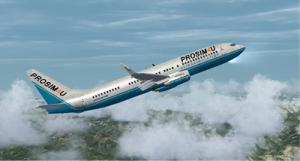 Boeing 737-800 in ProSim4u livery klein formaat